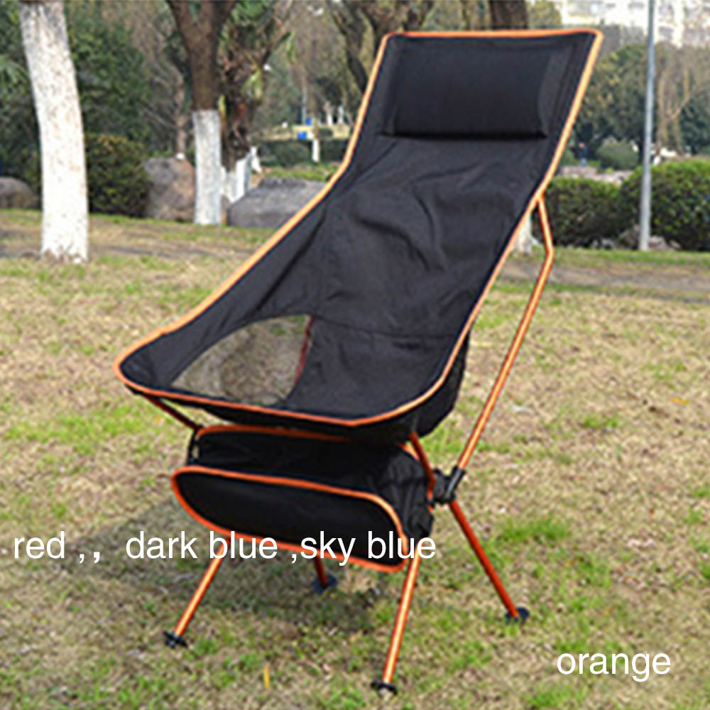 Camping  Fishing  Folding Moon Chair Ultralight High Quality Portable Chairs Beach Hiking Picnic Seat Outdoor Furniture