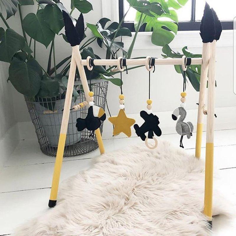 de madeira macica criancas ftness rack criancas 05