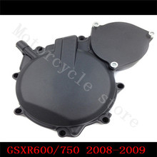 Motorcycle for Suzuki GSXR600 GSXR750 GSX-R GSXR 600 2008-2009 Motorcycle Engine Stator cover Black Left side K8 free shipping motorcycle parts billet engine stator cover see through for suzuki gsxr 600 750 2006 2013 black left
