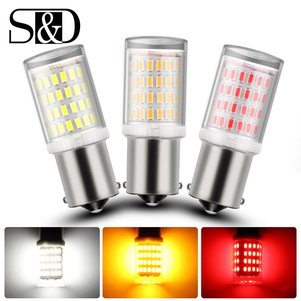 1Pc 80SMD S25 1156 BA15S P21W LED 1157 BAY15D P21/5W LED Bulb R5W R10W Car Turn Signal Light Reserve Lamps Auto Brake Light