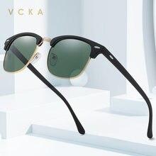 Солнцезащитные очки vcka с полуоправой для мужчин и женщин uv