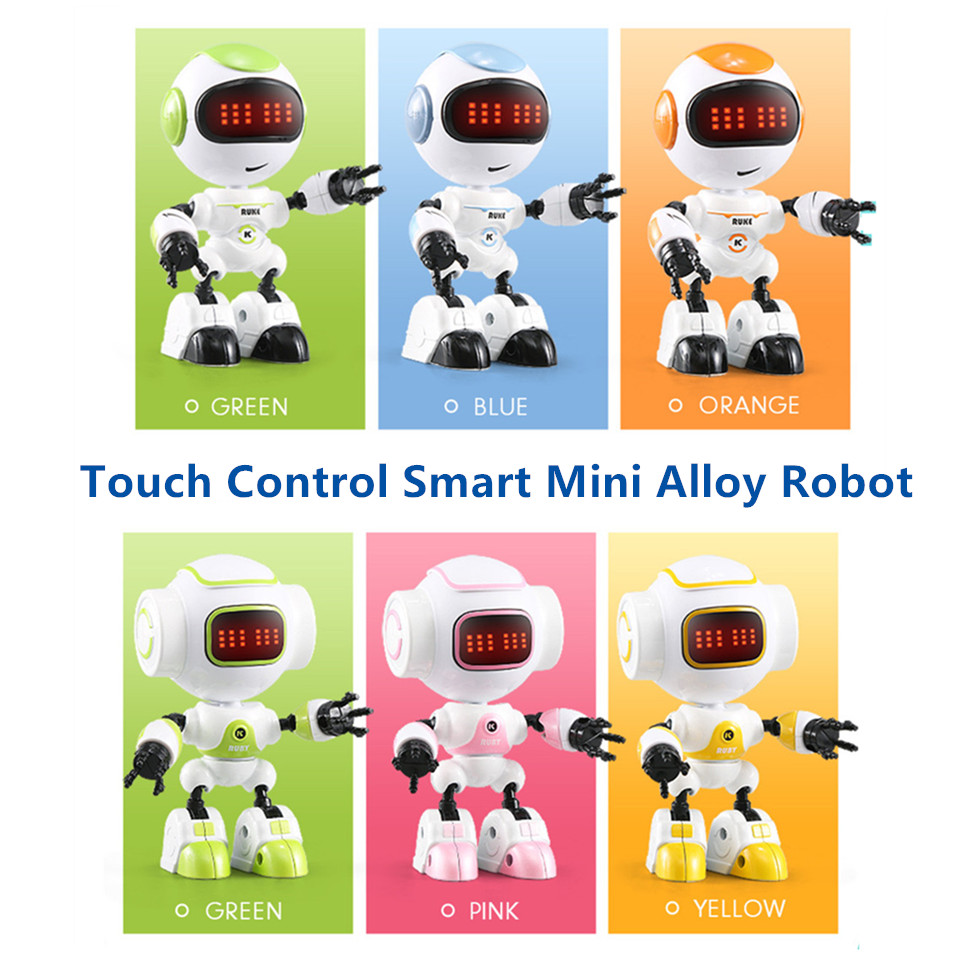 JJRC R8 R9 Alloy Mini Robot Touch Responese DIY Gesture Control Smart Voiced Intelligent RC Robot Robo Toys Robotics for Kids