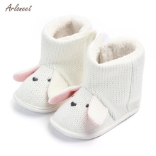 ARLONEET Toddler Shoes Boys Winter Warm Newborn Baby Crib Shoes Anti-Slip Casual Infant Baby Booties First Walkers Kid Shoes cheap Cotton Fabric Shallow All seasons Hook Loop Cartoon Animation Unisex Fits true to size take your normal size new born shoes