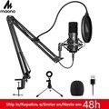 MAONO A04Plus USB Mikrofon Nieren Kondensator Podcast Microfono 192kHz/24bit Stecker und Spielen Mit für Livestreaming YouTube ASMR-in Mikrofone aus Verbraucherelektronik bei