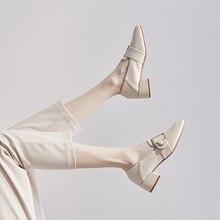 Francês elegante senhoras de trabalho sapatos escritório metal pérola cunha calcanhar design branco mocassins suave luxo saltos altos para mulher
