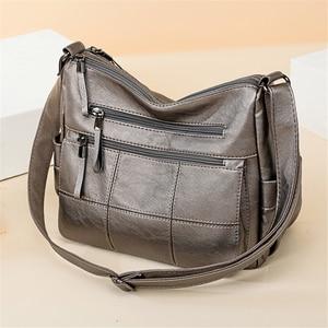 Image 2 - حقائب يد ومحافظ فاخرة للنساء ذات سعة كبيرة ، حقائب نسائية مصممة من الجلد والكتف ، حقائب كروس للنساء 2020 كيس