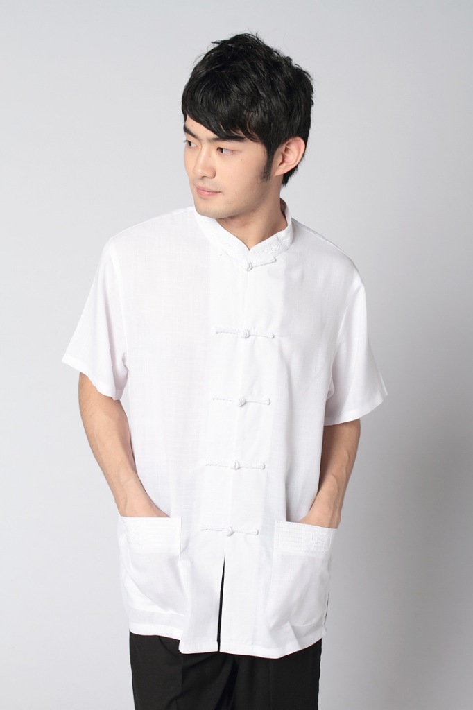 Chinese-style Chinese Style Clothing 2350-7 Chinese Costume MEN'S Short Sleeved Tops Middle-aged Half Sleeve Shirt/Set