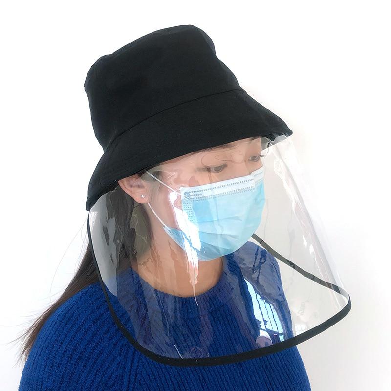 Corona-virus Protective Hat Anti Virus Protection Big Eaves Face Mask Antivirus Spitting Splash Transmission Masque