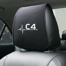 1PCS Auto poggiatesta del sedile copertura per Citroen C4 Accessori