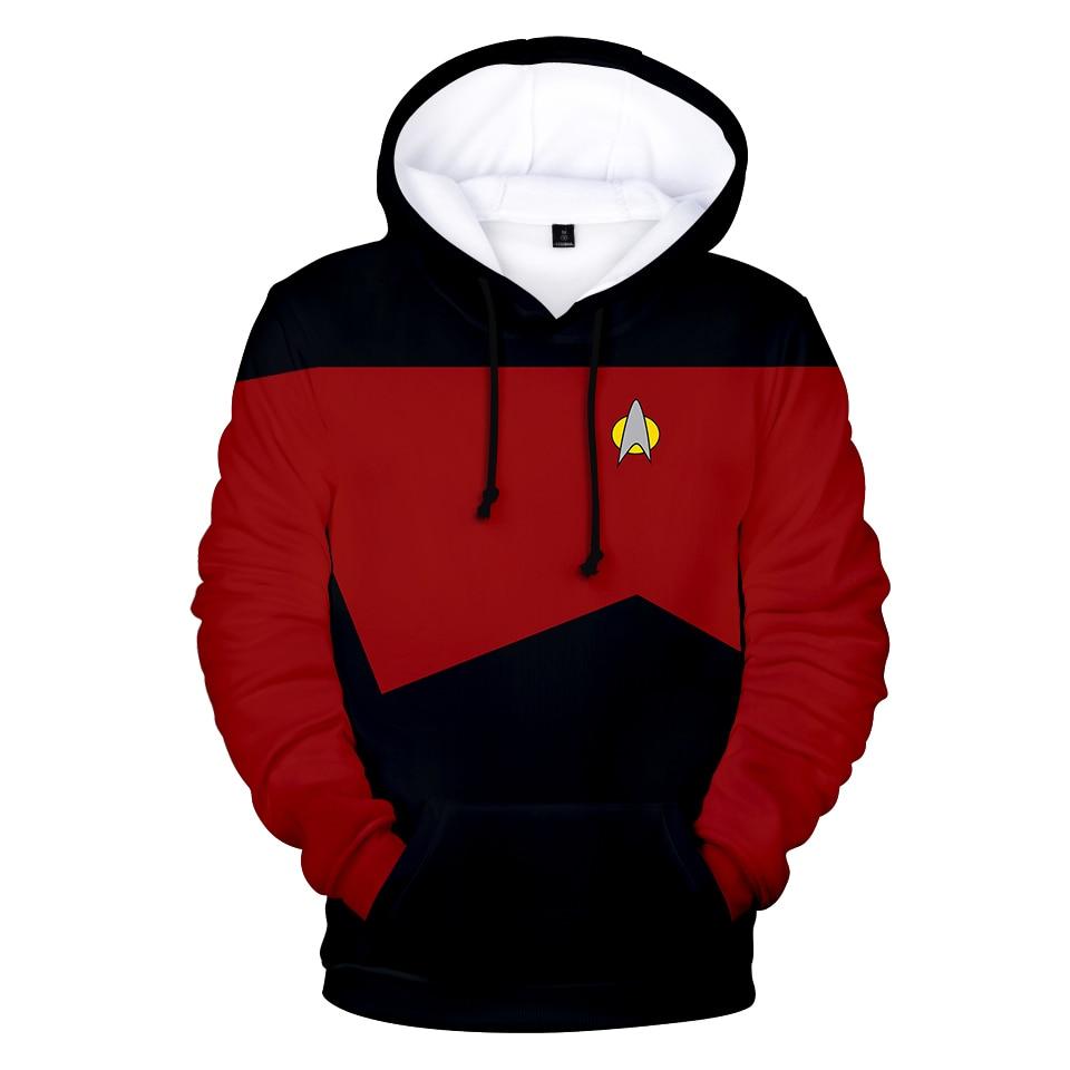 Movie Star trek Hoodies 3D Sweatshirts Hot Sale Long Sleeve Clothes Star trek cosplay hoodies Plus Size for men streetwear