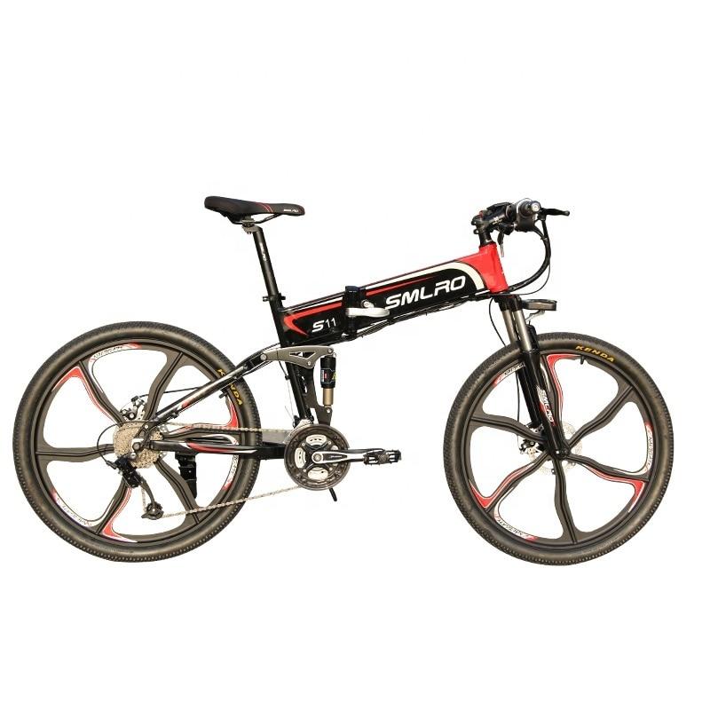 "S11YTL Steadfast e bike26"" Folding Electric Bicycle 48V 10AH 350W  E MTB Foldable ELectric Bike 2"