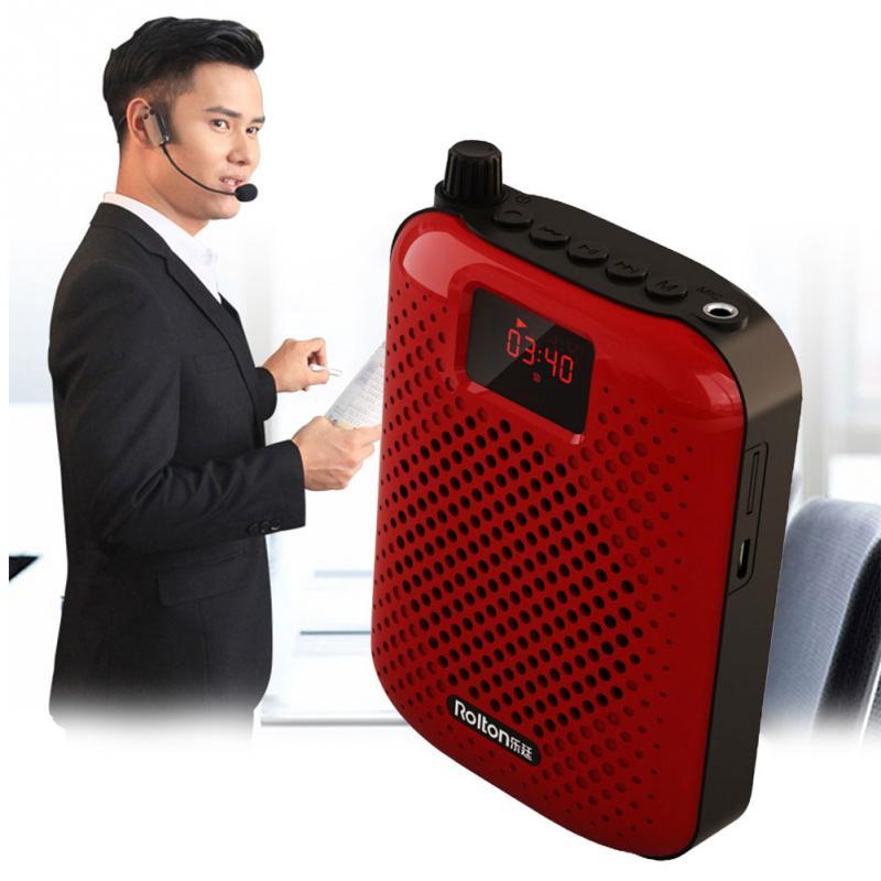 Tüketici Elektroniği'ten Megafon'de K500 mikrofon Bluetooth hoparlör taşınabilir otomatik eşleştirme ses amplifikatörü megafon hoparlör USB şarj öğretim için satış title=