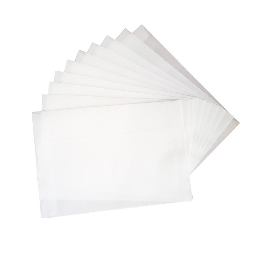 100 шт./лот пустые полупрозрачные конверты из бархата, многофункциональные подарочные конверты «сделай сам» с наклейкой-уплотнителем для св...