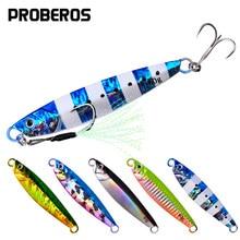 PROBEROS – appât artificiel en métal pour la pêche, leurre pour attraper des poissons, matériel pour pêcher des bars, avec cuillère, Slow Jigging, 1 pièce
