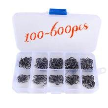 Новые 600 шт рыболовные крючки из углеродистой стали 3 # 12