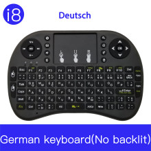 i8 keyboard NO backlit French Russian Spanish Italian Air Mouse 2.4GHz Wireless Keyboard Touchpad Handheld for TV Box H96 max PC(China)
