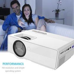 Najnowszy rzutnik z Full HD 1080p bezprzewodowy przewodowy wyświetlacz synchronizacja z kino domowe z Wi-Fi film projektor LED Beamer