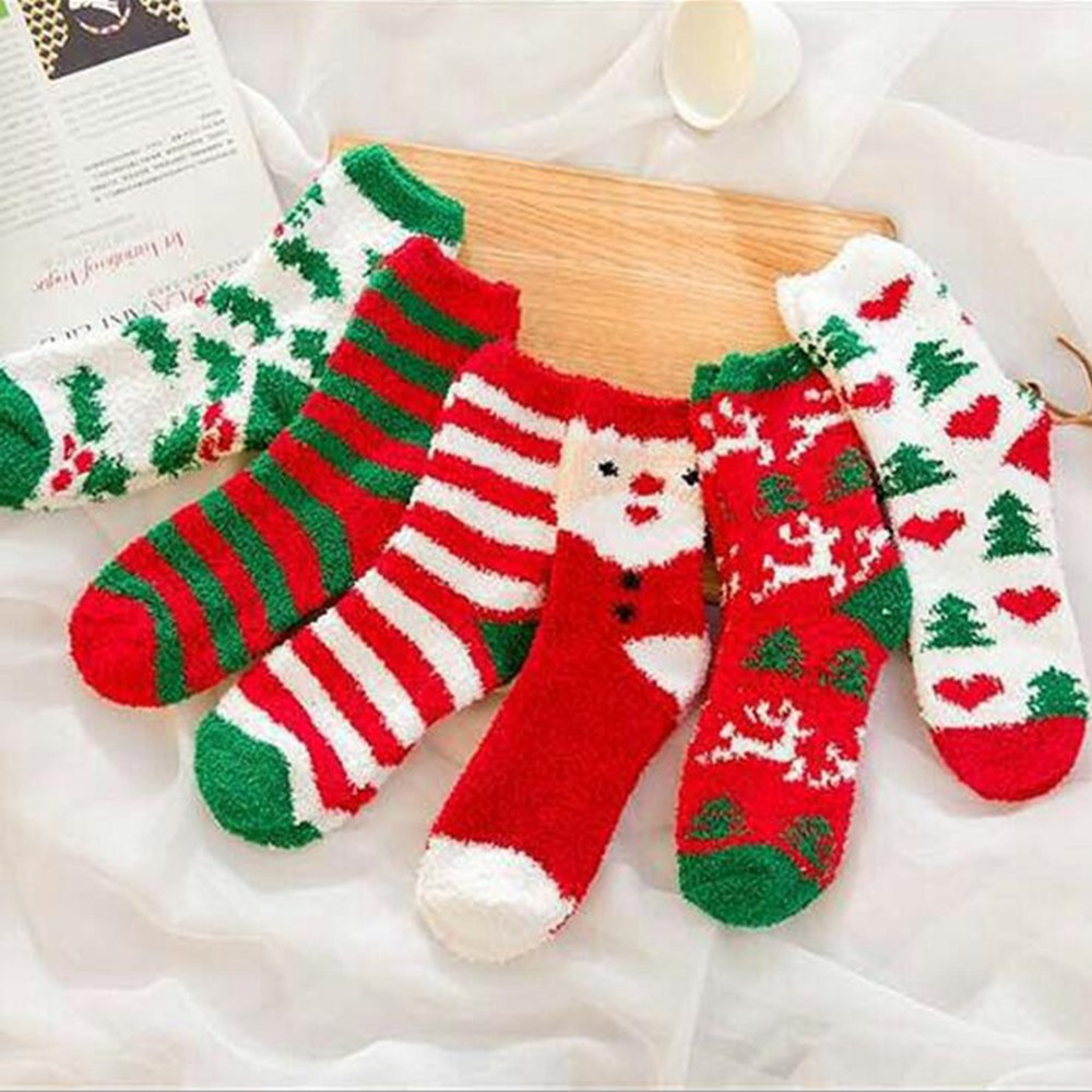 Hot Sale! Women's Socks Lady Christmas Gift Fashion Winter Cute Wool Socks Ladies Crazy Sock Female Thermal Warm Animal Socks