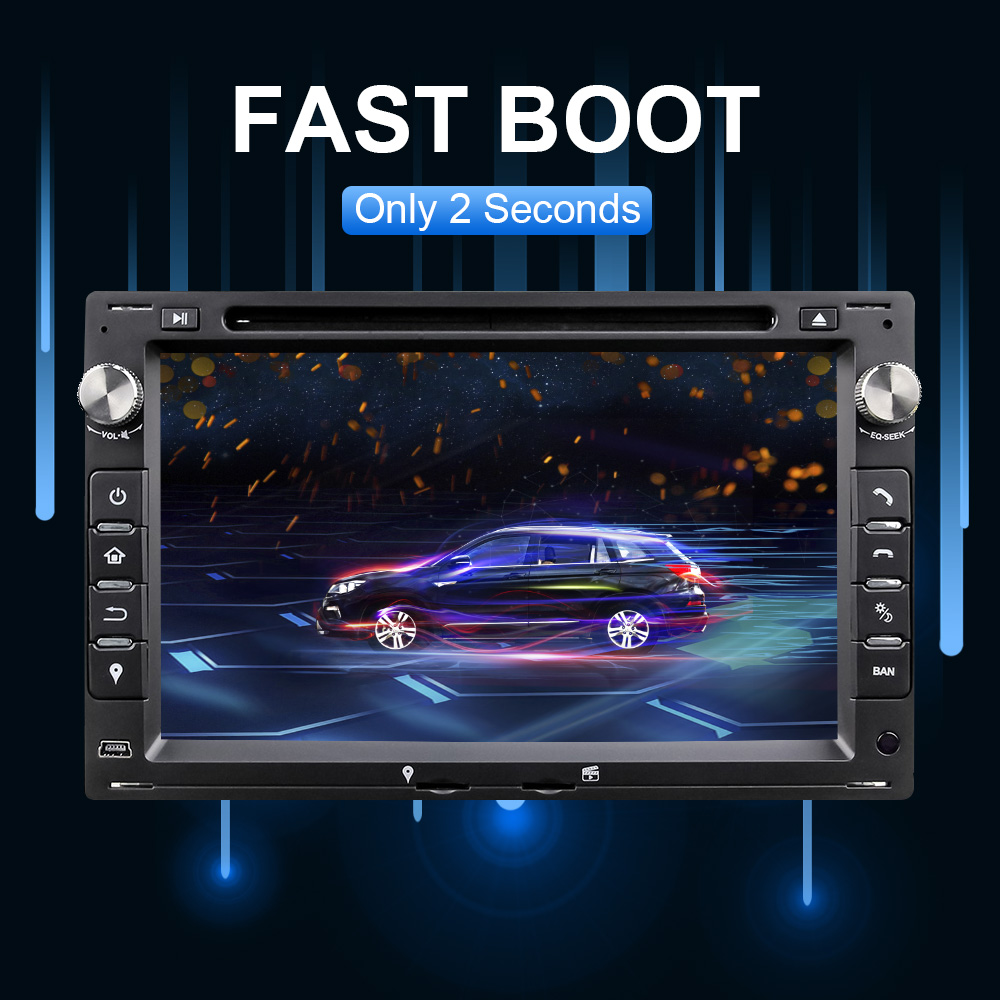 Eunavi <font><b>2</b></font> <font><b>Din</b></font> <font><b>Android</b></font> 10 Car DVD Radio <font><b>GPS</b></font> Auto For VW MK5 MK4 MK3 T5 TRANSPORTER PASSAT B5 B4 JETTA BORA GOLF 4 POLO SHARAN Unit image