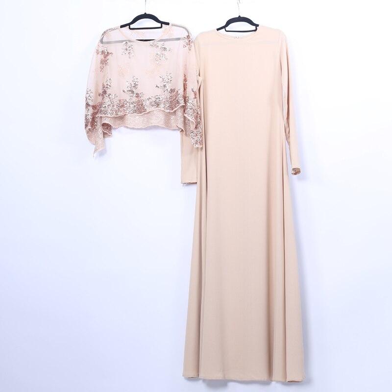Lace Vestidos Abaya Dubai Turkey Islamic Arabic Muslim Dress Morocco Caftan Tesettur Elbise Sukienki Hijab Dresses Robe Longue
