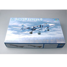 цена на Trumpeter 02835 1/48 Scale Sukhoi Su-24M Fencer-D  Fighter Bomber Plane Airplane Aircraft Toy Plastic Assembly Model Kit