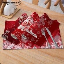 Красные столовые приборы fuwatacchi рождественские прочный обеденный