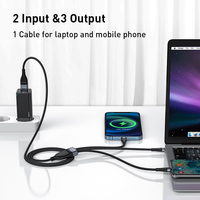 Baseus 3 in 1 USB C Cable for iPhone 12 Pro 11 XR Charger Cable 100W Micro USB Type C Cable for Macbook Pro Samsung Xiaomi