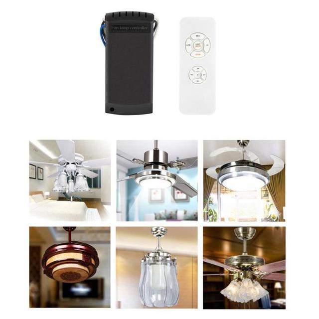 Evrensel Fan ışık uzaktan kumandalı anahtar hız kontrol Model parçaları yol açar + kablosuz uzaktan kumanda tavan vantilatörü lamba yeni