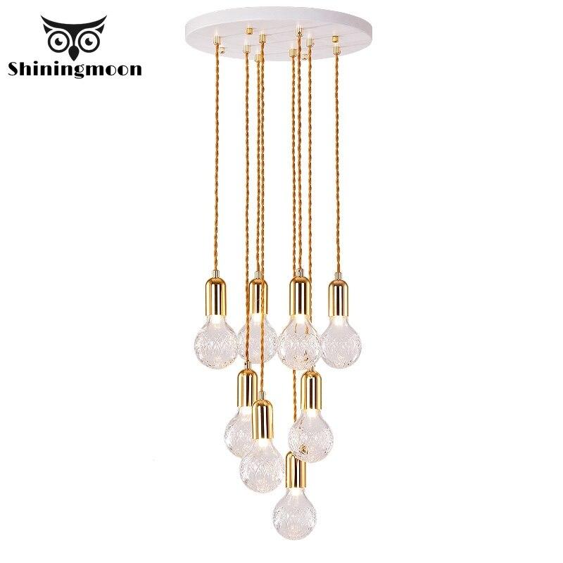 Moderne LED Anhänger Lichter Französisch Luxus Kristall Klar Wohnzimmer Anhänger Lampe Haus Hotel Halle Bar Hanglamp Leuchten