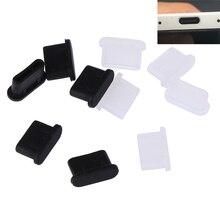5pcs Dustproof Cover Cap Jack Charger Plug USB Type-C Port Anti-dust Plug For Mobile Phone