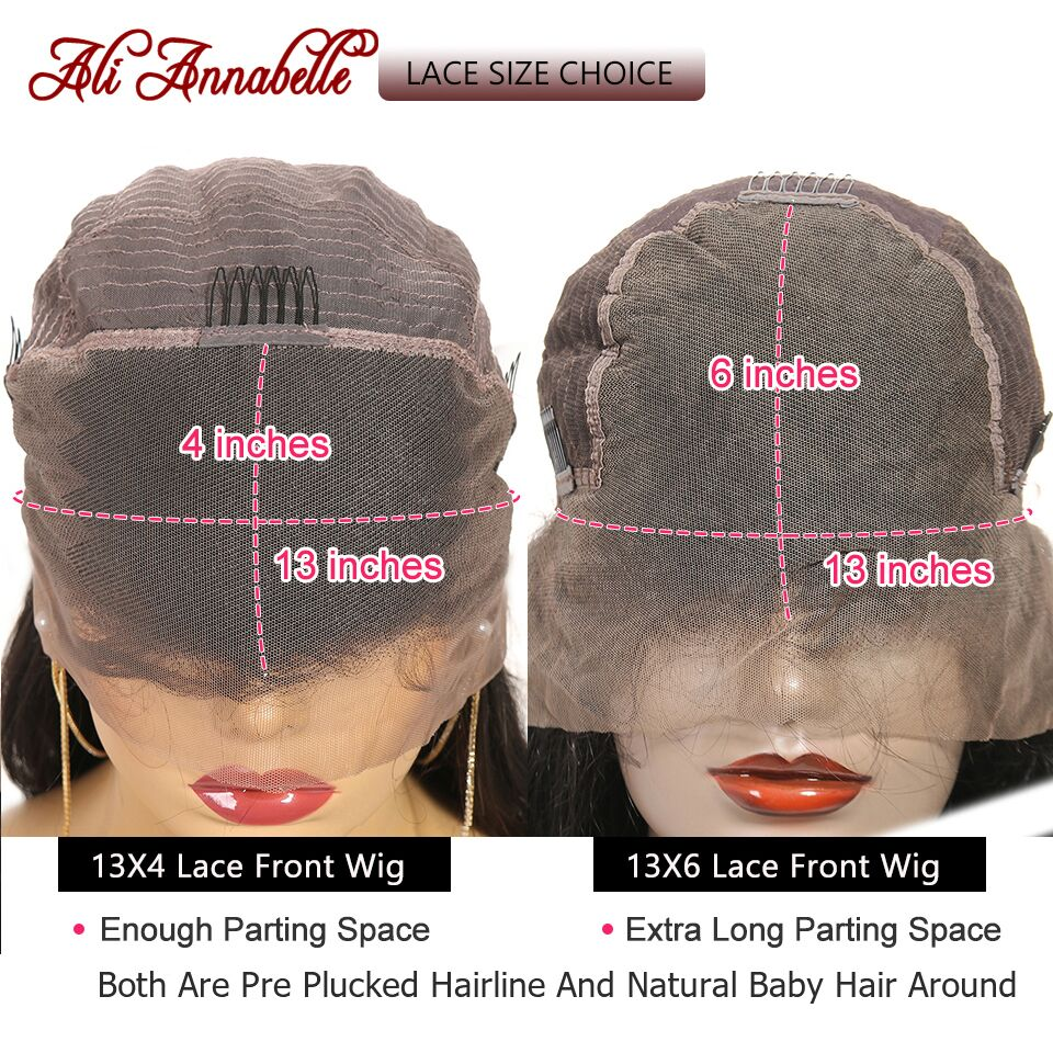 Image 2 - Lace Front Human Hair Wigs With Baby Hair Brazilian Curly Human Hair Wig 13*6 Human Hair Wigs ALI ANNABELLE HAIR Kinky Curly Wig-in Human Hair Lace Wigs from Hair Extensions & Wigs