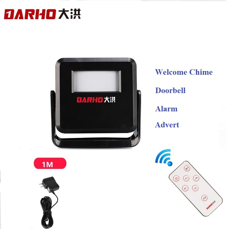 Darho Wireless Door Bell Guest Welcome Chime  PIR Motion Sensor For Shop Store Entry Security Doorbell Infrared Detector Alarm
