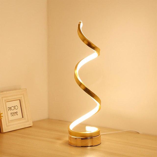 Lampe de bureau design nordique moderne, luminaire décoratif dintérieur, prise ue/US, pour chambre à coucher, chambre à coucher, bureau, 24W