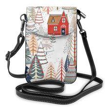 NOISYDESIGNS Christmas Forest Tree Print Women Mini Suitcase Crossbody Bag Phone Bags Custom Carteras Mujer de Hombro Bolsos