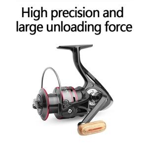 Image 4 - Bobina di pesca HC 500 6000 Durevole del Metallo Bobina Bobina di Filatura 8KG Pike Nero Rosso bobina di Filatura Ad Alta Velocità bobina di bobina di Pesca Strumenti