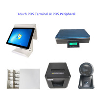 15 Touch Screen POS Termainal Systems Machines Cash Drawers Thermal Receipt Printer 1D&2D Barcode Scanner Weighing Scale