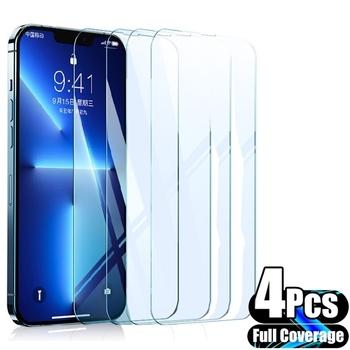 4 szt Pełna osłona ochronna szkło hartowane dla iPhone 13 Pro Max szklana folia ochronna dla iPhone 12 11 Pro X XS XR szklana folia tanie i dobre opinie ROEG Przezroczysty TEMPERED GLASS FOLIA HD Folia hartowana Anti-Scratch Anti-Shatter CN (pochodzenie)