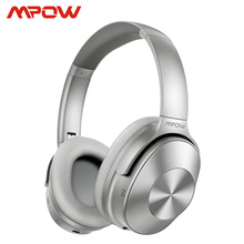 Mpow H12 Bluetooth 5.0 hibrid aktif gürültü iptal Bluetooth kulaklık 30H çalma süresi kablosuz kablolu 2 in 1 seyahat için çalışma