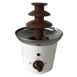 New Mini Chocolate Fountain Household Chocolate Melting Machine Electric Heating Chocolate Fountain Home(EU Plug)