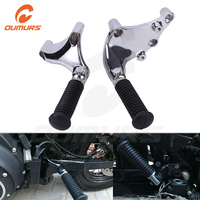 OUMURS Motorcycle Rear Foot Rests Pegs Pedal Back Passenger Footpeg Assembly Mounting Kit For Harley Sportster XL 883 1200 48 72