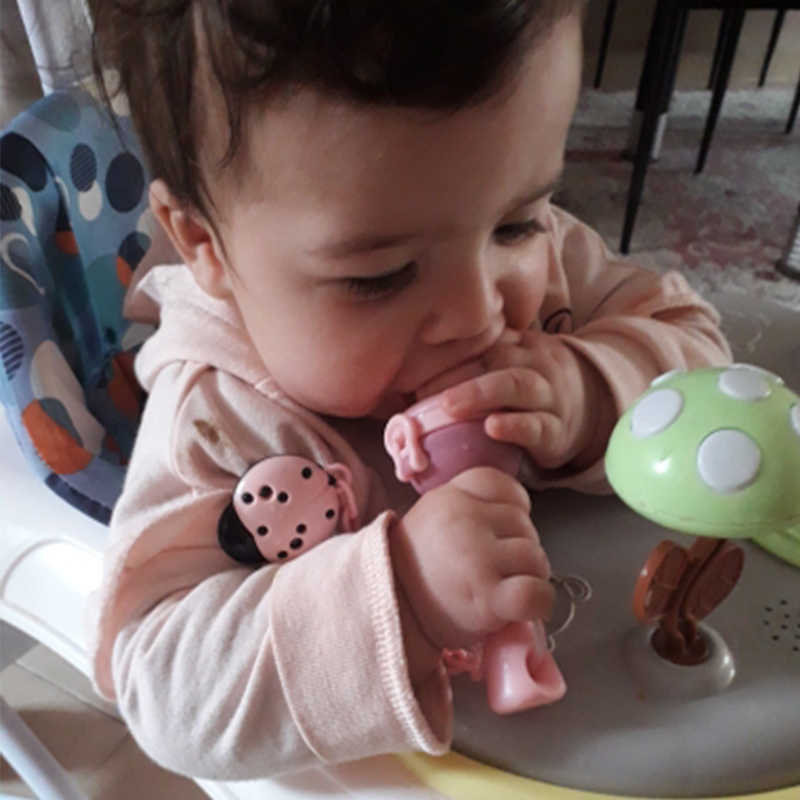 Baby teethers กับ Pacifier CHAIN ของขวัญสดอาหาร Nibbler เด็กผลไม้ Feeder Nipples ให้อาหารเด็กปลอดภัยจุกนม Pacifier