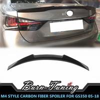 M4 Style Carbon Fiber Spoiler For Lexus GS300 GS350 GS450h 2005 2018 Rear Trunk Racing Spoiler Splitter Wing