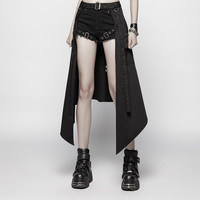PUNK RAVE Women's Daily Half Skirt Accessories Personality Party Club Stage Performance Gothic Harajuku women skirt