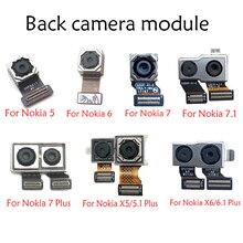מצלמה קדמית להגמיש עם חזרה אחורי מצלמה מודול להגמיש כבלים עבור Nokia 5 6 7 6.1 7.1 / 5.1 בתוספת x5/6.1 בתוספת X6