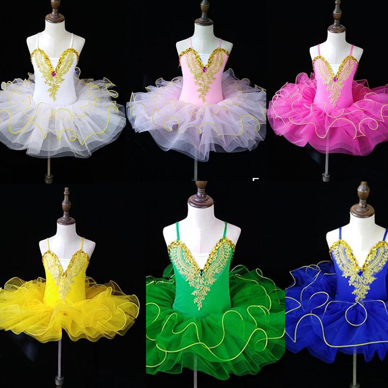 Colors Professional Ballet Tutu Dress Girl Dance Costume Child Performance Ballerinas Tutu Kids Child Carnival Jazz Dance Dress