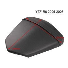NEW-Motorcycle Leather Rear Seat Cushion Rear Passenger Seat for Yamaha YZF-R6 YZF R6 2006 2007