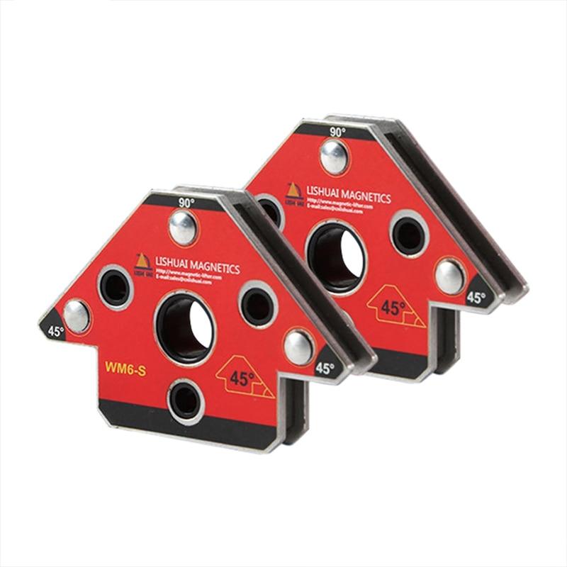 2Pcs Set Wm6-S Magnetic Welding Clamp Magnet Welding Holder For Three-Dimensional Welding