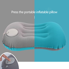 Portable Travel Pillow Inflatable Lumbar Support Cushion Ultralight TPU Airplane Outdoor Camping Chair Relaxing Air Neck Pillow naturehike inflatable outdoor camping pillow ultralight travel pillow with pocket potable inflation cushion