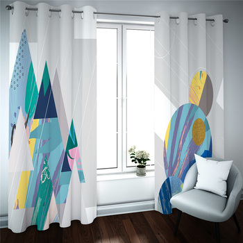 customize Modern simplicity photo curtains Window Curtain for Living Room abstract 3D Blackout curtains