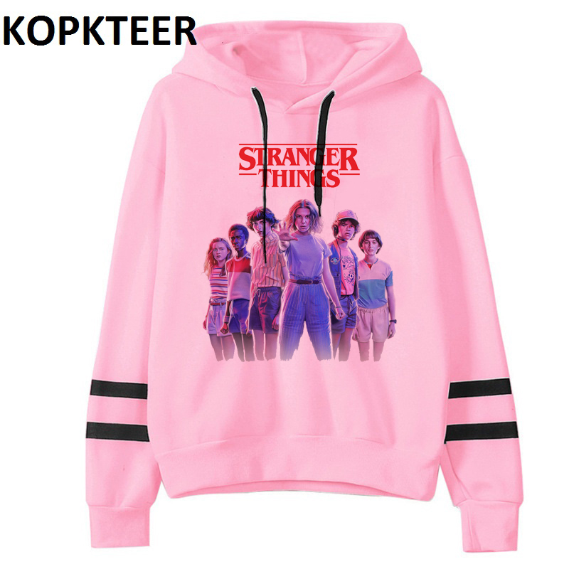 Stranger Things 3 New Fashion Long Sleeve Harajuku Eleven Gothic Print Hoodie Pullovers Tops Women Kawaii Hooded Sweatshirt Tops